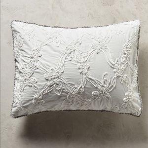 Anthropologie NWOT Floral Trellis Pillow Shams